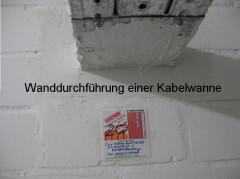 Brandschutz Wanddurchführung